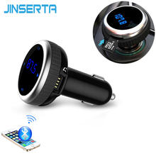 JINSERTA Car MP3 Audio Player Bluetooth FM Transmitter Without Remote Wireless FM Modulator Car Kit HandsFree LCD USB TF Reader(China)