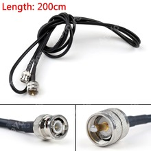 Sale 200cm RG58 Cable PL259 UHF Male Plug To BNC Male Straight Crimp Coax Pigtail 6ft High Quality Mini Jackplug Wire Connector