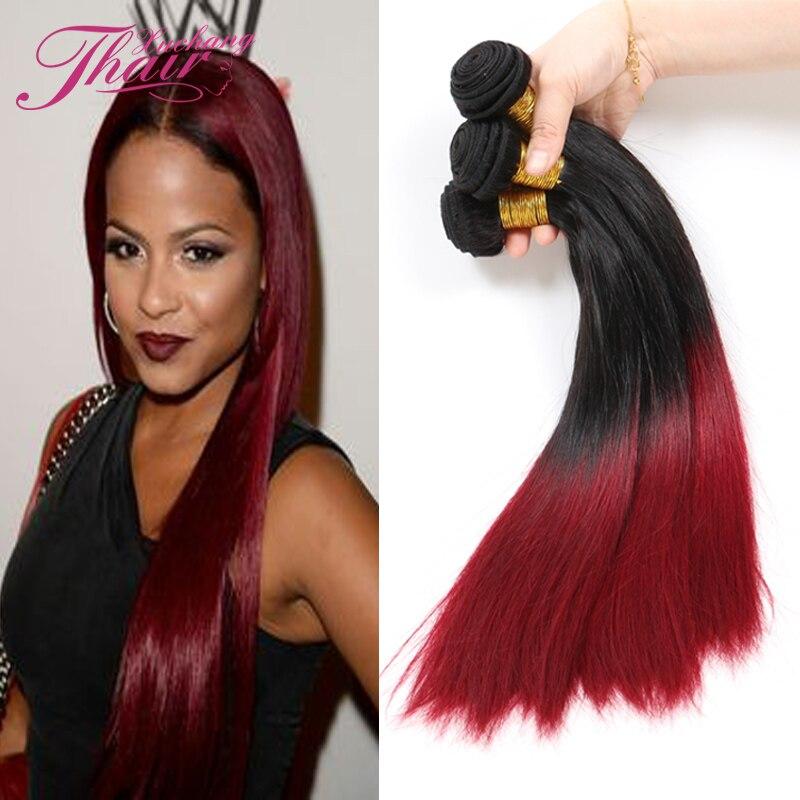 Brazilian Virgin Hair Ombre Straight Human Hair Bundles 1b 99j , Brazilian Ombre Straight Weave 100% Brazillian Ombre Two Tone<br><br>Aliexpress