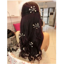 6pcs fashion Hair Clips For Women Wedding Accessories Bridal Crystal Pearl Lace Flower Barrettes Bridesmaid Hair Pin Wedding
