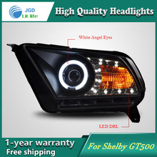high quality Car styling case for Ford Mustang GT500 Headlights LED Headlight DRL Lens Double Beam HID Xenon(China)