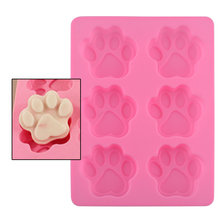 Lovely Dog Paw Silicone Mold Fondant Cake Decorating Tools Ice Cube Soap Cookie Cutter Chocolate Baking Kitchen Accessoriess(China)