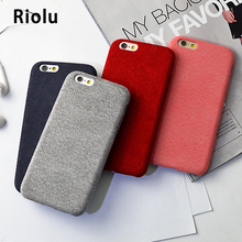 Simply Soft Velvet Warm phone cases For iPhone 7 6 6S 5 5S SE 6Splus 7 7Plus Suede Fabric Soft TPU Back Cover Pure Color Grey(China)