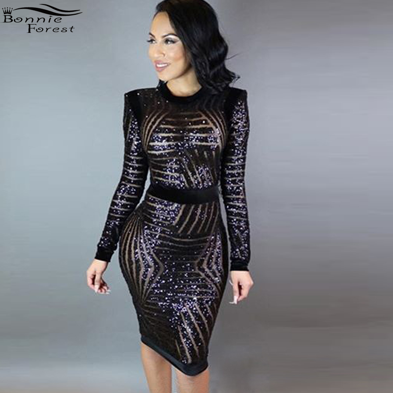 2018 summer maxi dress bling silver glitters black mesh ladies elegant dress  low-cut o-neck sexy sheer long sleeve ... 547482ca1075