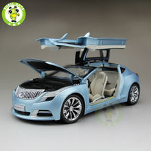 1:18 US GMC Buick Riviera 2009 Diecast Car Model Blue(China)
