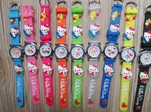 NEW 10pcs/lot Cute hello kitty Watch,Cartoon Children 3D kids gift