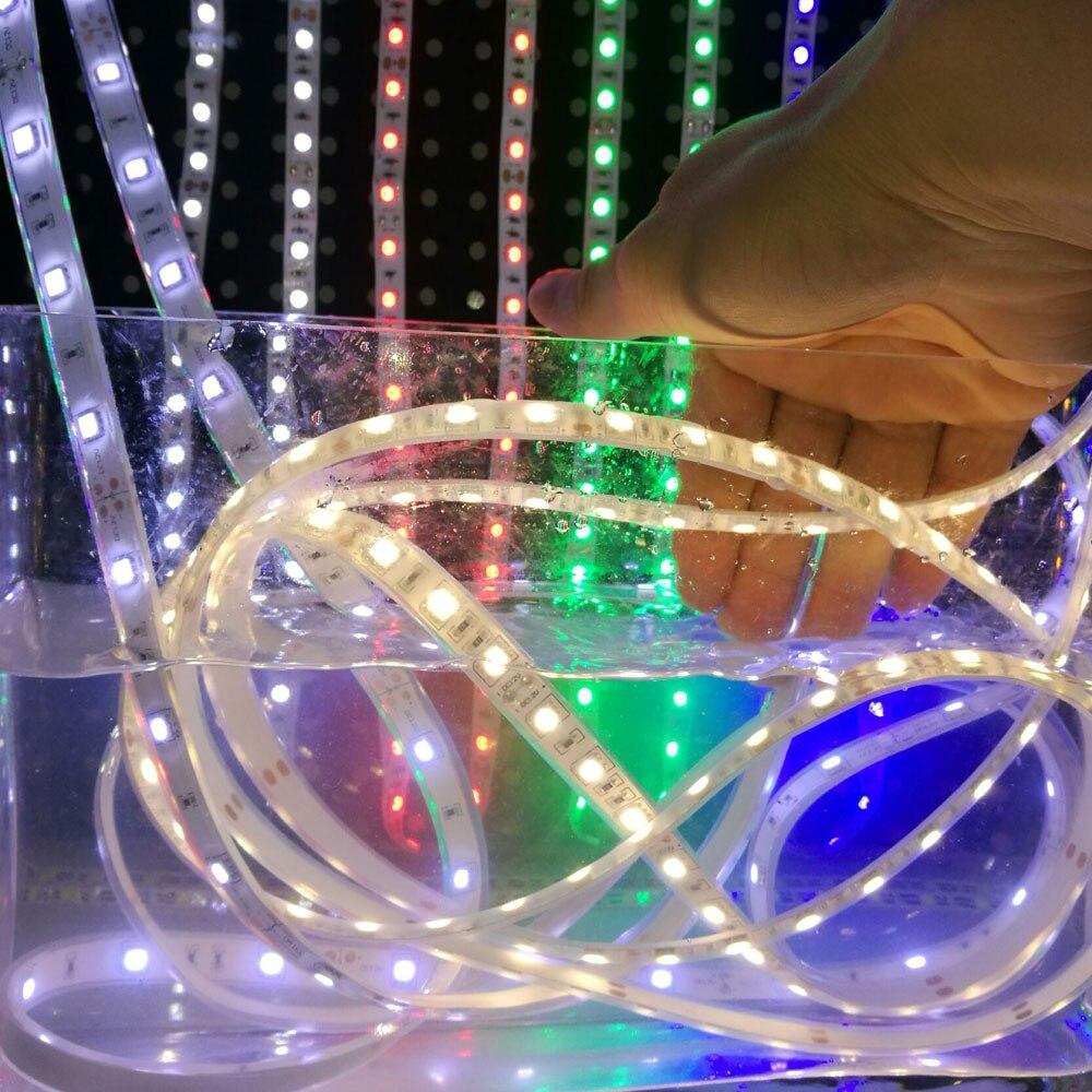 IP68 2835/3825 5 M LED Strips Waterproof White/Warm White Lighting String For Motorhome Fish Tank  UnderWater 12V Power Light<br>