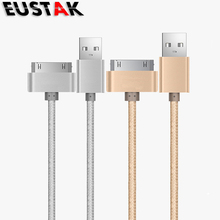 Eustak 1m 30 Pin USB data Charger CABLE For iphone 4 Charger cable USB Cable Fast Charger For iphone 4s 4 iPad 2 3 IPOD