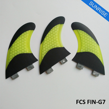 Fiberglass Honeycomb Surfboard Fin Surfing FCS Fins G7 Quilhas FCS Fin Good Quality SUP Board Thruster Fin Free Shipping
