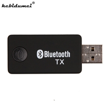 hot Multi function TV Bluetooth Transmitter Bluetooth Audio Music Transmitter Computer 3.5mm Audio Adapter wholesale(China)
