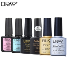 Elite99 10 ml metálico Top Coat Base Coat Top Coat mate Top brillante Gel de remojo No limpieza mate top Coat Primer Lacquer(China)