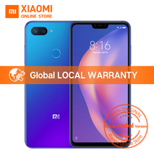 "Versão Global Xiao mi mi 8 Lite 6 gb 128 gb 6.26 ""19:9 Tela Snapdragon Notch Completo 660 Octa núcleo 24MP Frente Câmera do Smartphone(China)"
