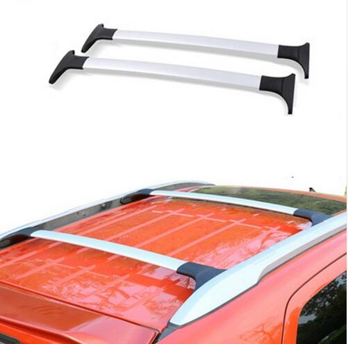 free SUV car 2 pcs/set Roof Rack Luggage rack Roof Racks Cross bar Accessories For 2013-2017 Ford Ecosport Silver Black(China (Mainland))