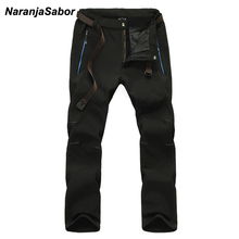 NaranjaSabor 2019 Winter Casual Waterproof Male's Jogger Thick Trousers Warm Inside