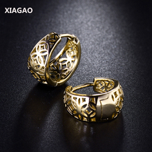 XIAGAO New Fashion Designer Womens Earring Vintage Stylish Hollow Hoop Earing for Ladies High Quality Jewellery Gift E403