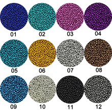 1 Box Caviar Manicure Nail Art Mini Beads Rhinestones for Nails Micro Nai Crystal Ball 3D Nail Art Decorations 12Colors Choose