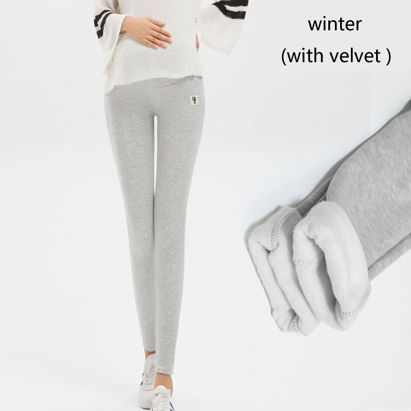 Plus Size Winter Velvet Pregnancy Leggings Pants For Pregnant Women Maternity Leggings Warm Clothes Thickening Trousers Clothing 9