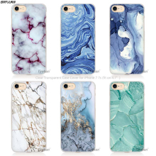 BiNFUL Marble Image Painted Landscape Hard Transparent Phone Case Cover Coque for Apple iPhone 4 4s 5 5s SE 5C 6 6s 7 Plus(China)