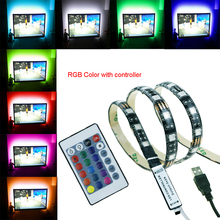 1-5M 5050 USB Led Strip RGB and Single Color 5V 60led/M light Waterproof tiras for TV Background Computer Bike car Party TR