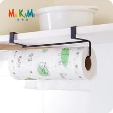 MAIKAMI New Iron Kitchen Tissue Holder Hanging Bathroom Toilet Roll Paper Holder Towel Rack Kitchen Cabinet Door Hook Holder(China)
