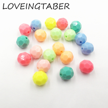 (Choose Color First) Newest 12mm 520pcs/bag Pastel Mixed Color Big Faceted Acrylic Beads For Kids Jewelry Making