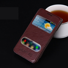 High Quality Hot Flip Ultrathin View Window Leather Case For Samsung Galaxy S2 S 2 SII S II i9100 Case Luxury Phone Cover