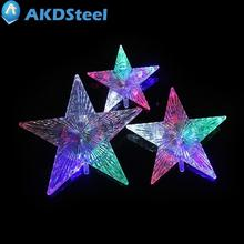 AKDSteel Christmas Tree Topper Star Lights AA Battery Operated Pentagram Star Light Decoration Lamp for Christmas New Year zk40(China)