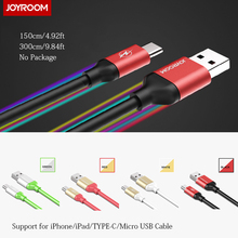 1.5m 3m Long Extended USB Cable for iPhone 6 6s Plus SE iPad Mini Air Pro / Micro for Samsung HTC LG / TYPE-C Fast Charge Cord