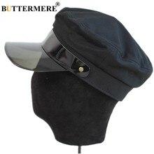BUTTERMERE Nero Cappello Militare Per Le Donne Degli Uomini Army Cap  Autunno Strillone Maschio Femmina di Marca Baker Boy Equest. a562c67b1d17
