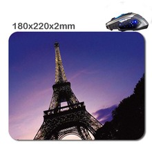 180*220*2mm Hot Sell 2016 New Arrivals eiffel tower Print Design Soft Mouse Pad Antiskid Rubber Mat game Mouse Pad, Office Gift