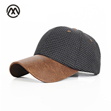 Fall winter Cotton baseball cap women Hats for Men Weave snapback men caps PU visor dad hat bone casquette de gorras mujer(China)
