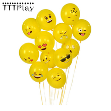 10pcs/lot 12 Inch Smile Face Emoji Latex Balloons Wedding Decoration Inflatable Air Balls Happy Birthday Party Supplies Balloons(China)