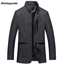 Men's Jacket Outerwear Autumn Men Coats Winter Male Autumn Overcoat MJK33(China)