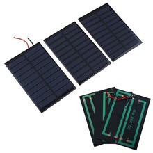 5V 0.8W Solar Power Panel Bank 160mA Mini Solar Panel Battery power charger charging Module DIY Cell car