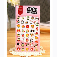 1 Sheet Kawaii Cute Animal Friends Adhensive Stickers DIY Stick Label PVC Phone Hand Account Decor Sticker Stationery Kids Gift