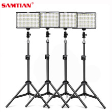 SAMTIAN 4Sets Photography Lighting Kit 160 LED Studio Photo Video Light Lamp With Tripod and NP-F550 Battery For DSLR Camera(China)