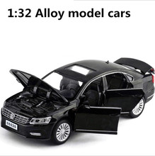 1:32 alloy pull back car,high simulation Passat,deicast metal model,6 open the door toy vehicles,musical&flashing,free shipping(China)