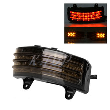 Fender LED Somke Lens Integrated Tail Light With Turn Signal Lamp Fit For Harley Street Glide FLHX FLTRX Touring(China)