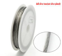 Doreen Box Lovely Silver Tone Steel Beading Wire tiger tail 1mm, sold per lot of 1 roll(9M) (B16254)(China)