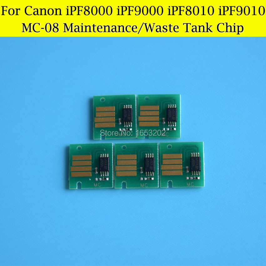 5 PCS MC-08 Maintenance Tank Chips For Canon IPF8000s IPF9000 IPF9100 IPF9110 IPF8300 IPF8310 Waste Ink Tank<br><br>Aliexpress