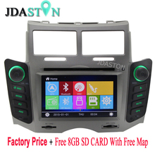 JDASTON WINCE 2 Din In-Dash Car DVD Player For TOYOTA YARIS 2005 2006 2007 2008 2009 2010 2011 Navigation GPS TV Audio Radio BT(China)