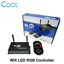 WiFi LED RGB Controller DC5-24V for RGB LED Strip with RF Touch Remote Controller Apply to IOS / Android Mobile Devices.(China)