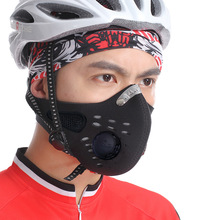 Winter Anti Pollution Face Mask activated carbon filters Neck Gaiter Cycling Windproof Mask Balaclava MTB Bike Mask