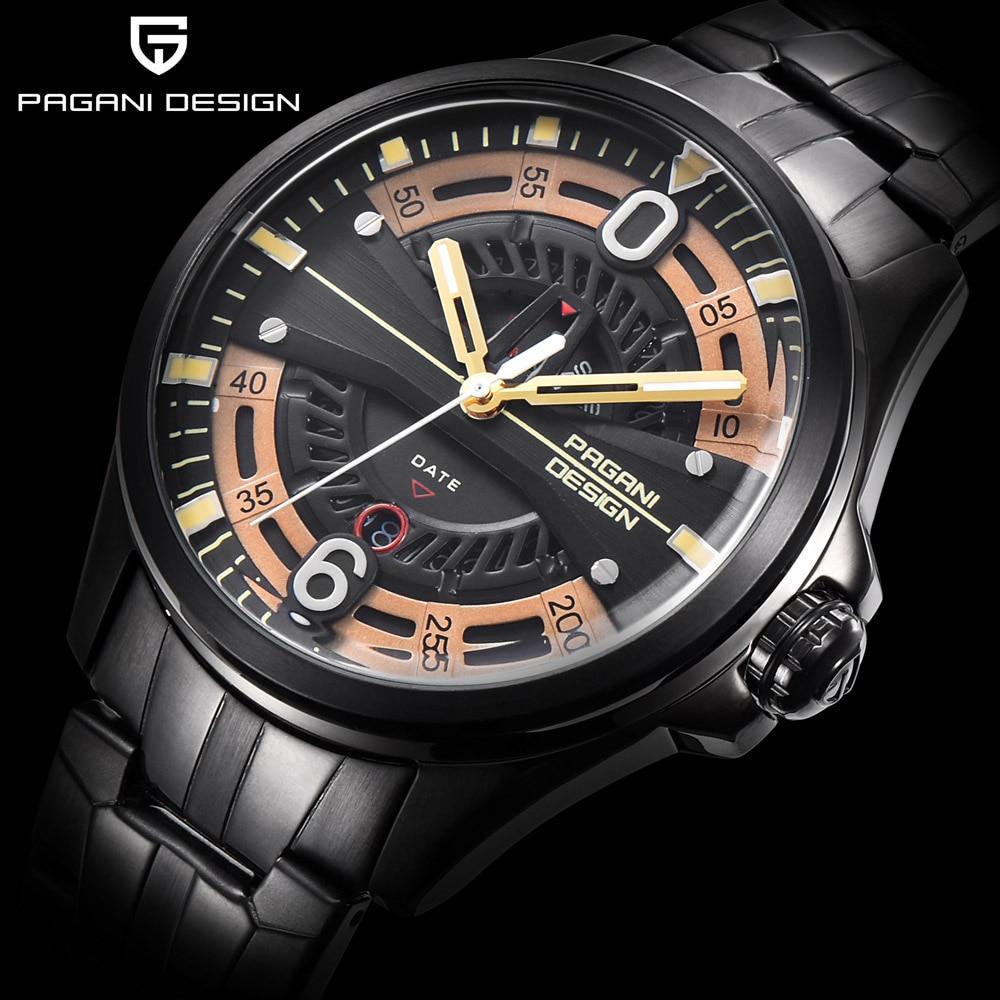PAGANI DESIGN Brand Luxury Mens Watch Date 30m Waterproof Clock Male Casual Quartz Watches Men Sport WristWatch Man Reloj Hombre<br>