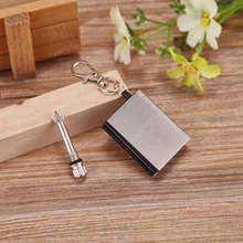 Windproof Stainless Steel Permanent Fire Metal Match Lighter Key Rings Chain Camping Hiking Survival Hot