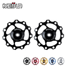 BIKEIN - MTB Bicycle Rear Derailleur 11T/13T Pulley Wheel With Bearing Mountain Bike Guide Wheel CNC Idler Pulley Wheel 5 Colors