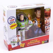 Original Toy Story Woody and Buzz Lightyear Talking Action Figure Collectible Model Toy Kids Christams Birthday Gift