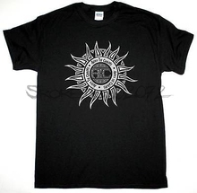 ALICE IN CHAINS SUN LOGO GRUNGE SEATTLE ALTERNATIVE NEW BLACK T-SHIRT