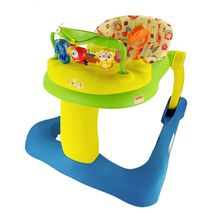 Free Shipping 2 in 1 Baby Tunes Musical Baby Activity Walker Rocker Baby Walk Behind With Discovery Center Tiny Steps Walker