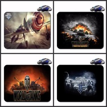 Free Shipping World Of Tank Logo Quick Printing Game Rubber Mouse Pad/Optical Mouse Pad/Notebook Mouse Pad/Anti-Slip Mouse Pad(China)